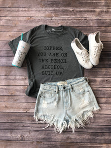Coffee Alcohol Graphic Shirt