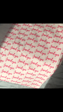 Personalized Name Blanket