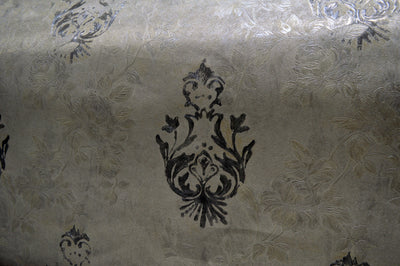 Luxury greyscale with blue imprint wallpaper