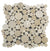Beige Round Heart Sharp Marble Mosaic Tiles [HeartSharp05]