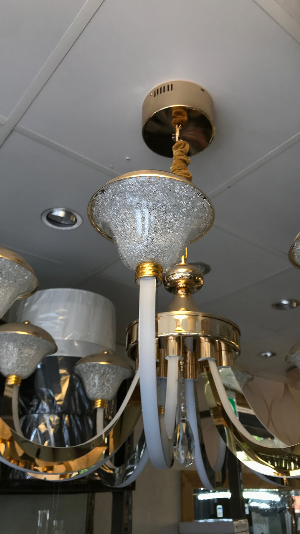 Upwards 3 shades lighting 8 arms suspended ceiling Chandelier [2025-8]