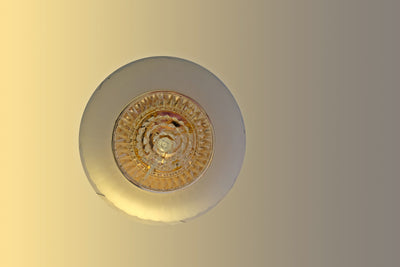 Circular glass ceiling mounted crystallic shaded light [31233-500 | 31233-600]