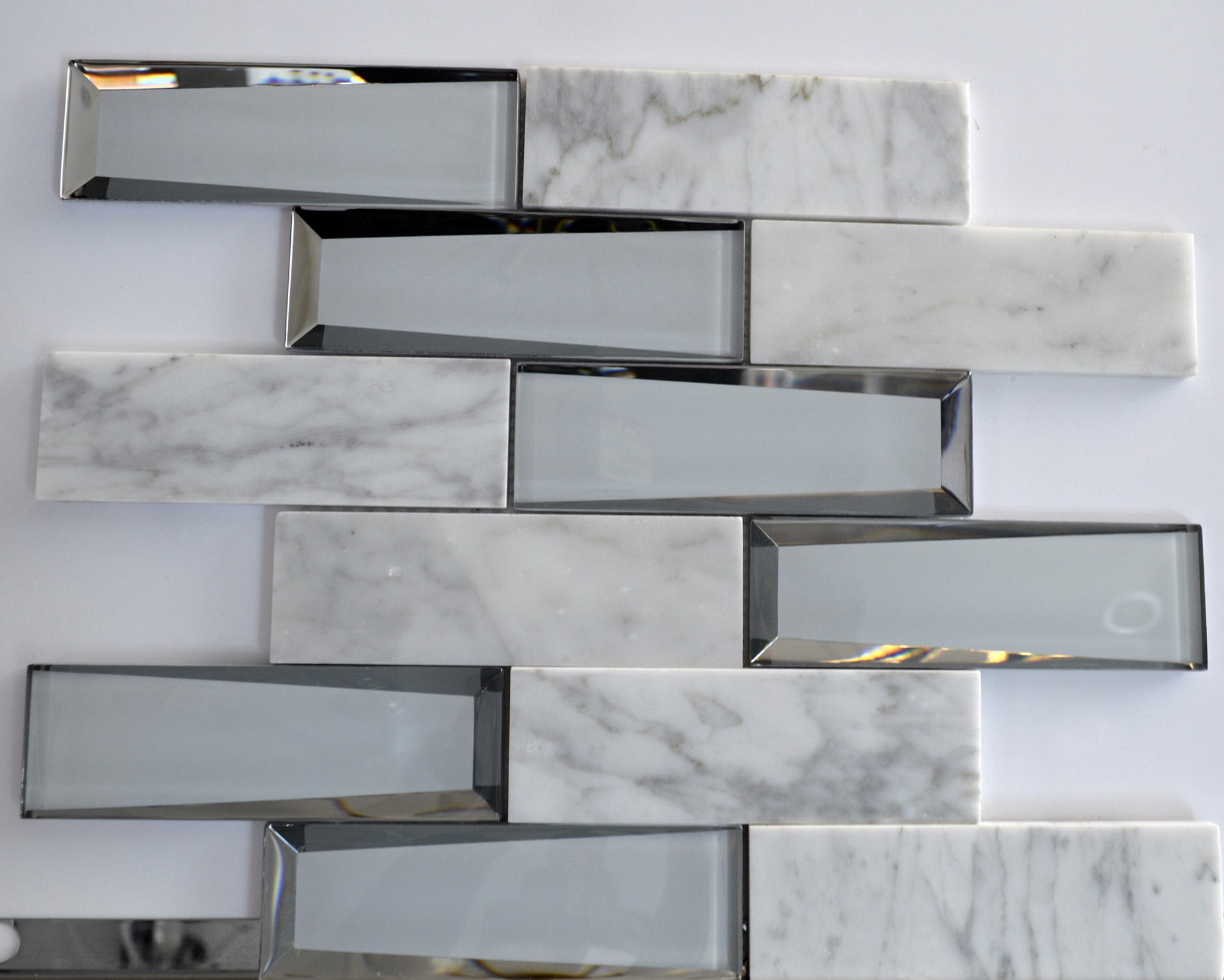 Stone and mirror elegant and modern mosaic tiles