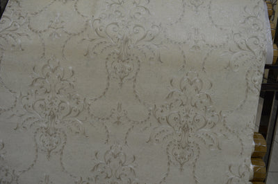 White patterned abstract leaves luxury wallpaper