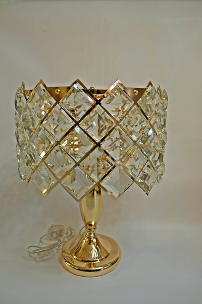 Hexagonal crystallic thin fitting heavy gold table lamp [5810-3TGD]