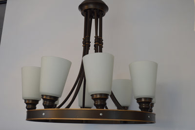 Vintage Victorian Chandelier Wooden fixture in 8 arms [8001-8]