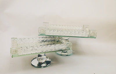 Mirrored Crystal Serving Plate