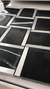 Porcelain and aluminium black elegant mosaic tiles in black | 1 sheet 30 x 30 cm | 11 sheets 1sqm
