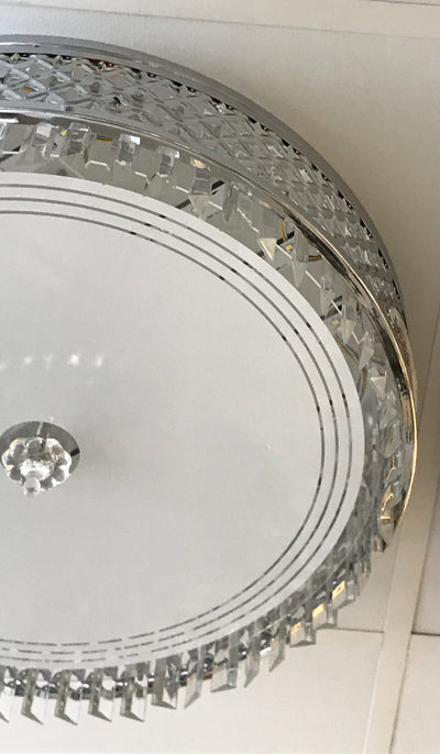 Circular glass ceiling mounted crystallic shaded light [C7049-550 | C7049-650]