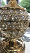Thin metallic frame crystallic table lamp with incorporated LED [CDG002 | CDS002]
