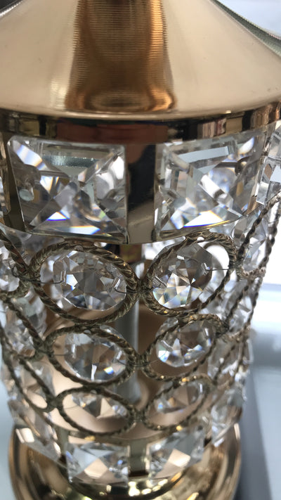 Thin metallic frame crystallic table lamp with incorporated LED [CDG01 | CDS01]