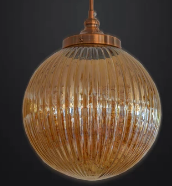 [SALE] £20 off Gold Glass Ceiling Light [801-LD160471 | 801-LD170173]