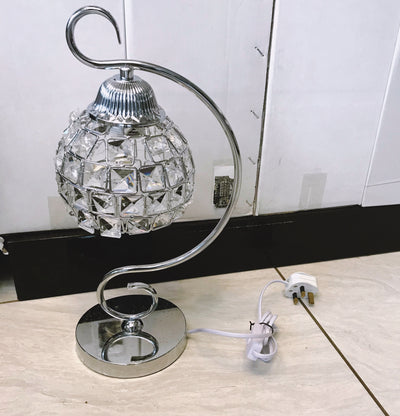 Thin metallic frame crystallic table lamp with incorporated LED [DGCT01 | DSCT01]