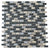 Gray Black & Golden Glass Mosaic Tile | 1 sheet 30cmx30cm&8mm | 11 sheets 1qm