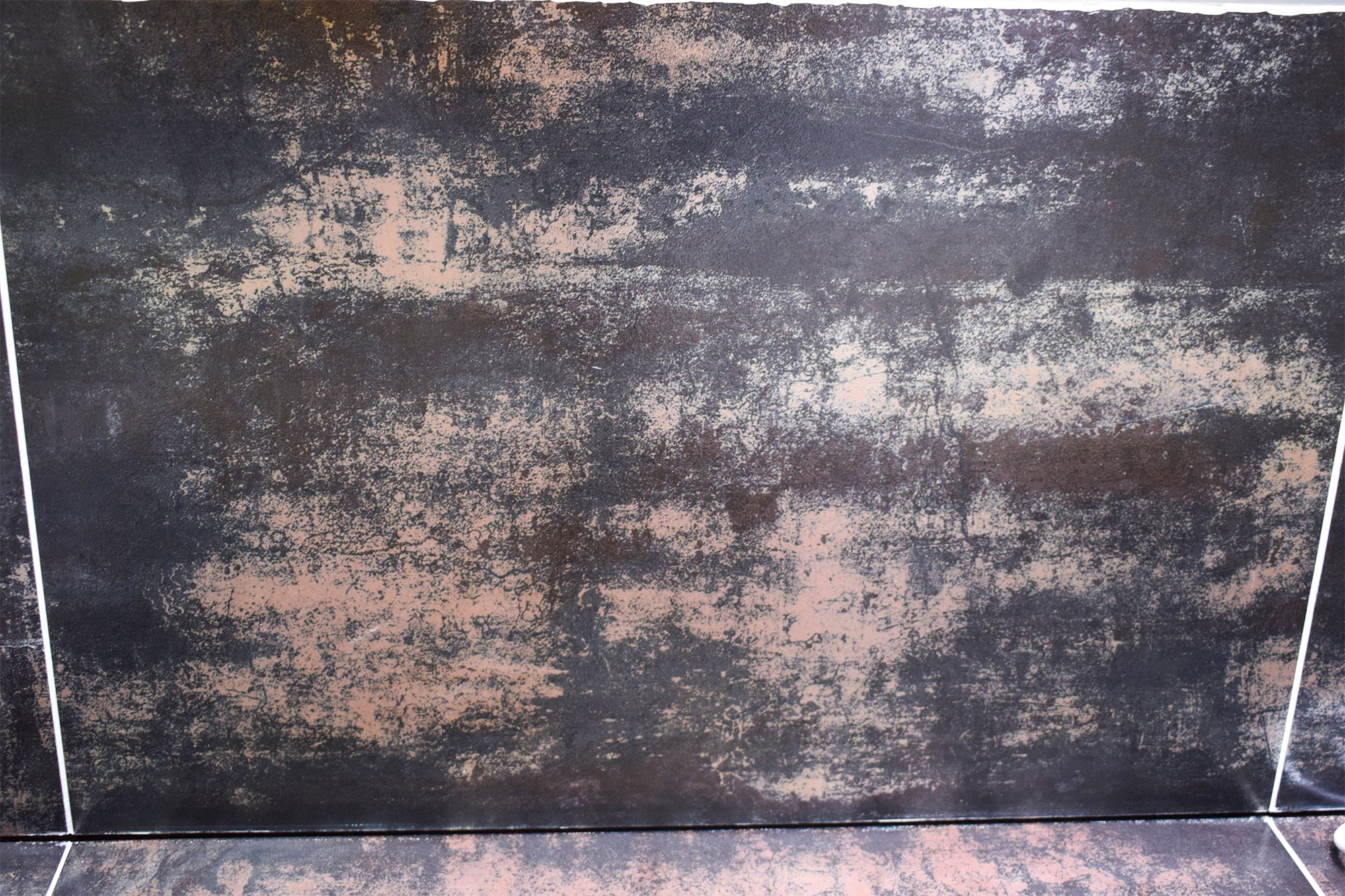 Dark Orange Rust Effect Porcelain Tiles 600 x 600 x 10 mm [6JS007