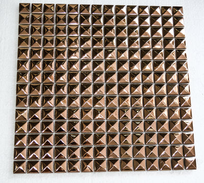 Pyramid Aluminium&Ceramic Mosaic Tile | 1 sheet 30cm x 30cm 8mm | 11 sheets 1sqm