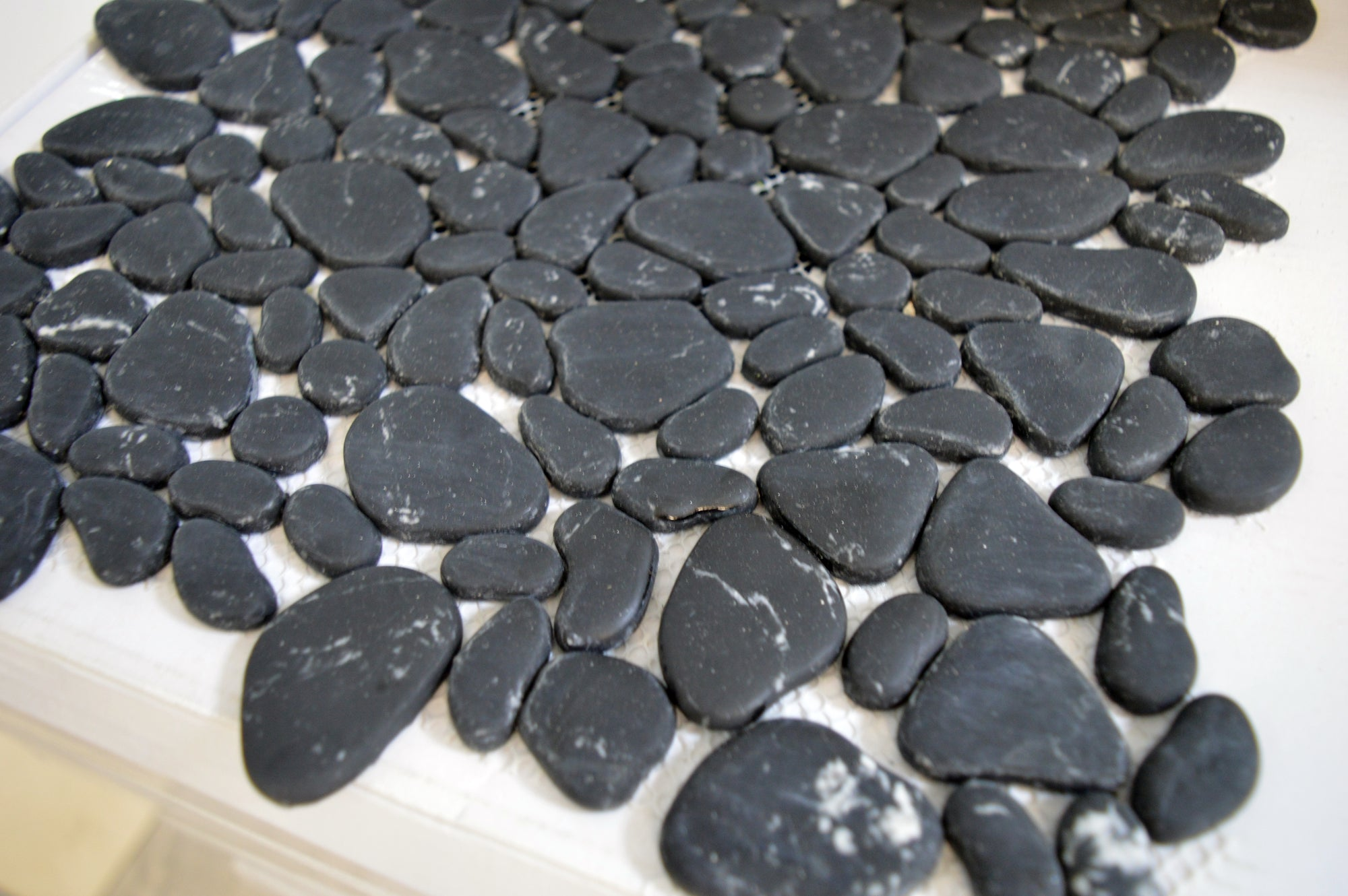Black Stones Pebbles Mosaic