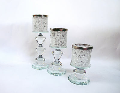 Crystal Tall Candle Holders