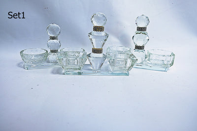 Dual Crystal Candle Holders