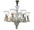 White Crystal Glass 8 Arm Chandelier Light 60 x 65 (901 1 /8)