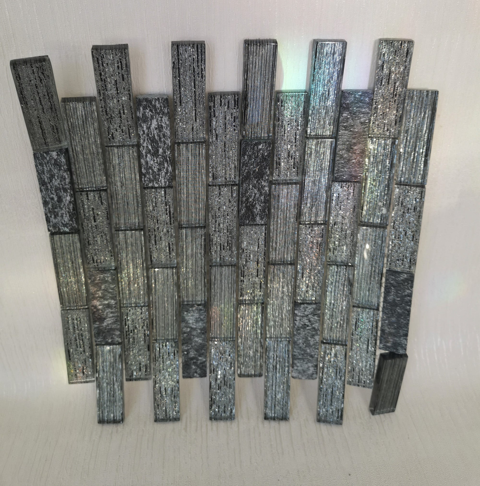 Greyscale Glass Mosaic Tile