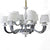 Silver & White 12 Arm Candle Ceiling Chandelier  91 x 91 x 61 (S1049/8+4)