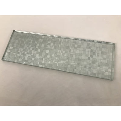 Olive Green Chequered Glass Mosaic Tiles [Jb-S1] - Glass Mosaics