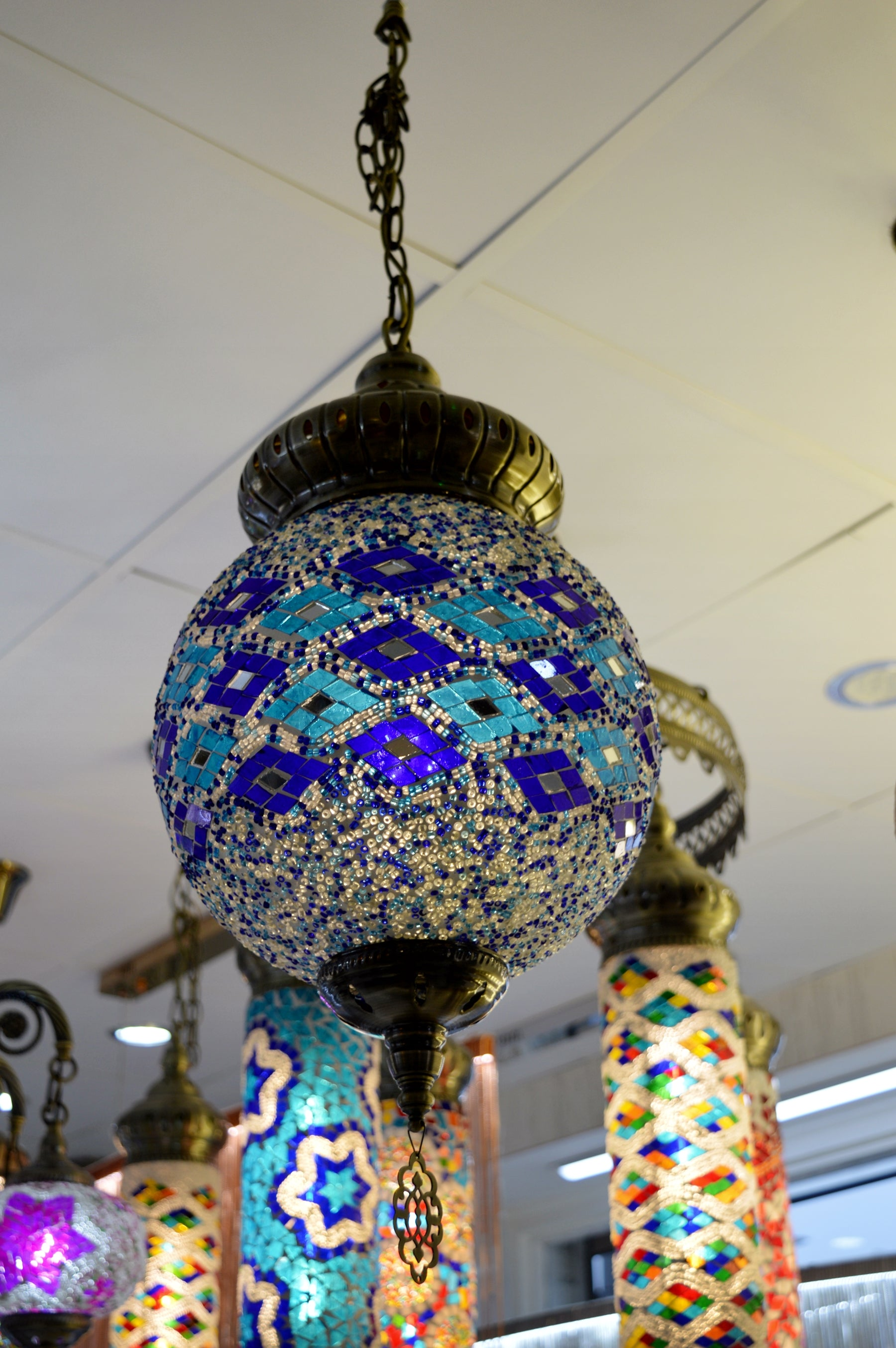 Large Globe Turkish Pendant Light