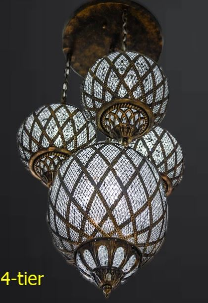Large Tri-oval Pendant Turkish Pendant Light [CD1863]