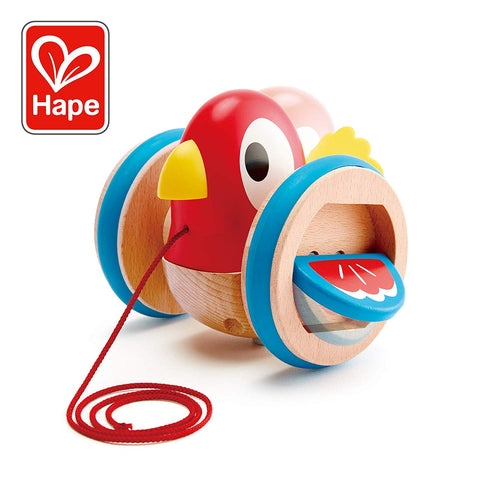 Hape Happy Bird Pull Along at WoodenToys.com