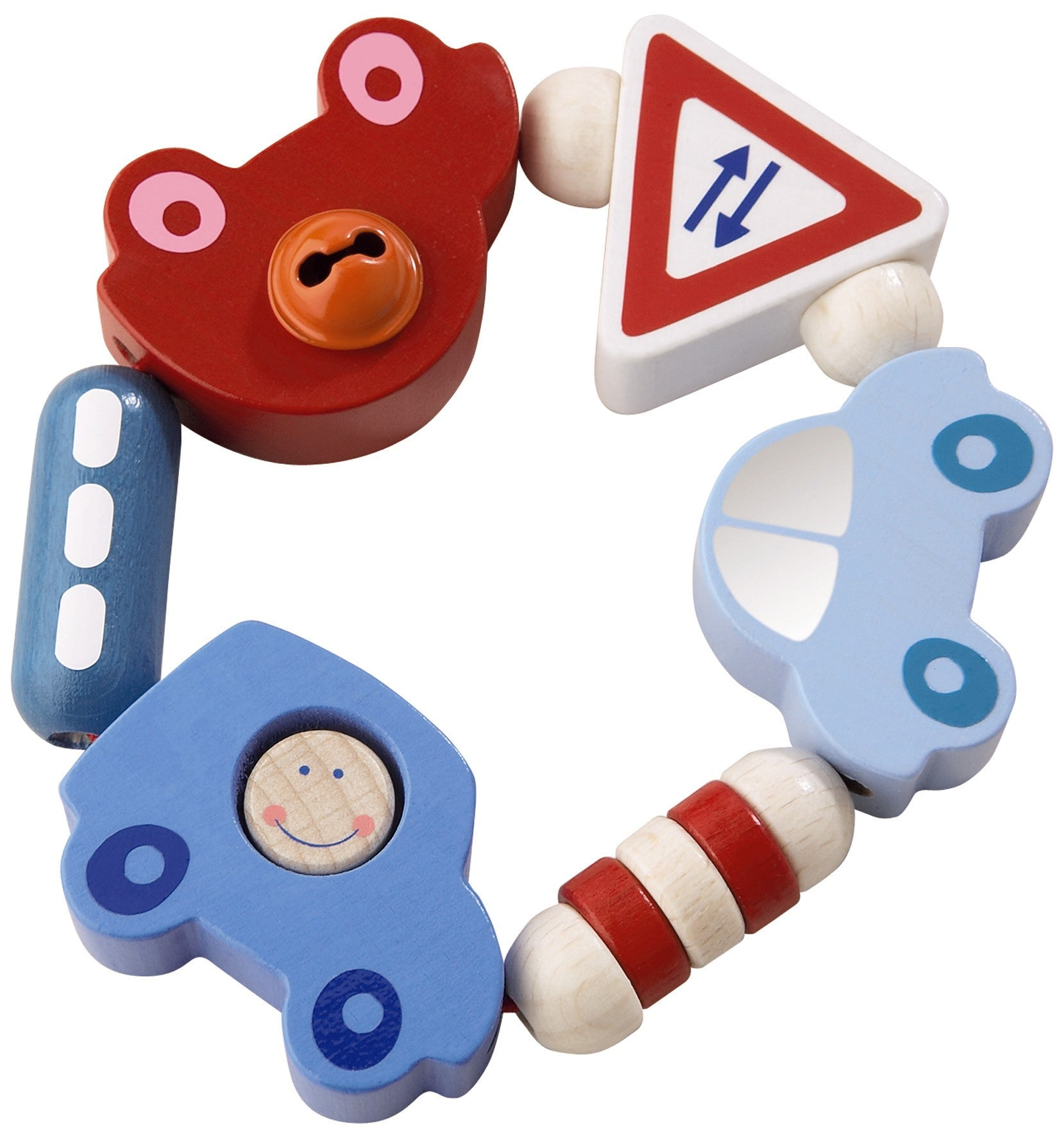 Haba Toot Toot Clutching Toy - WoodenToys.com