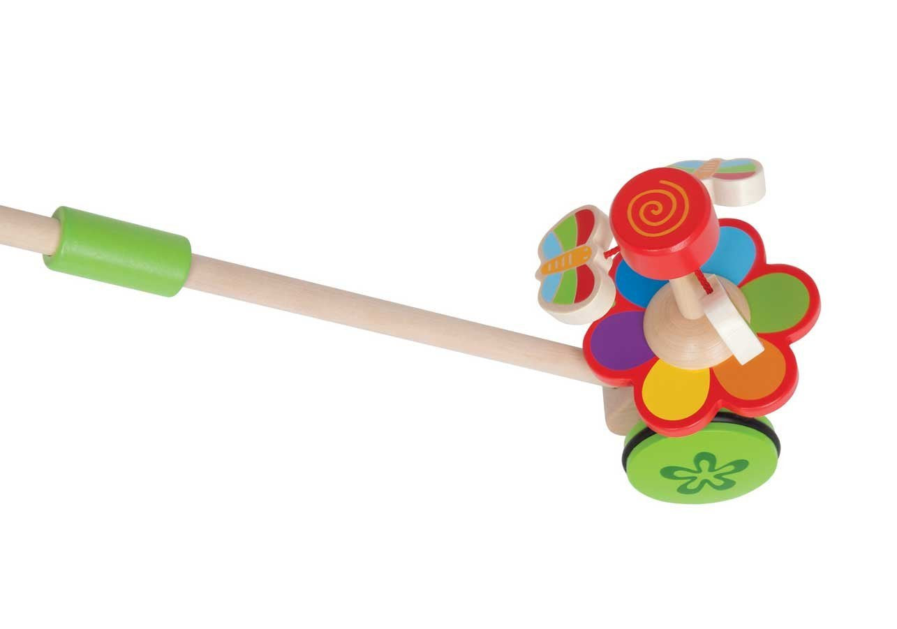 Hape Dancing Butterflies Push and Pull - WoodenToys.com