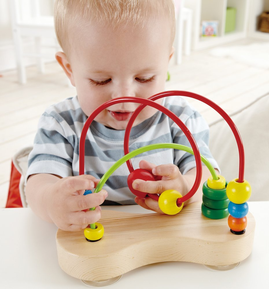 Hape Double Bubble Wooden Bead Maze - WoodenToys.com