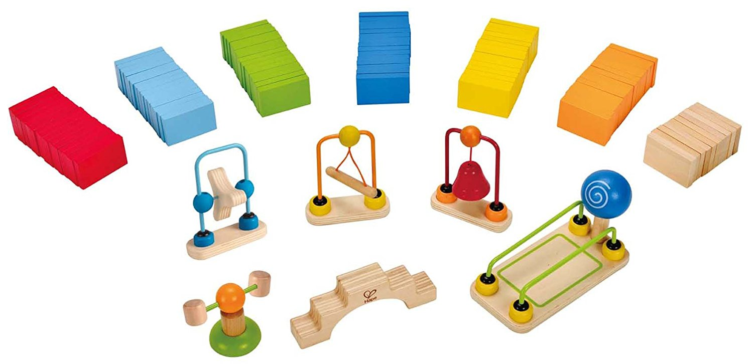Hape Dynamo Kid's Wooden Domino Set - WoodenToys.com