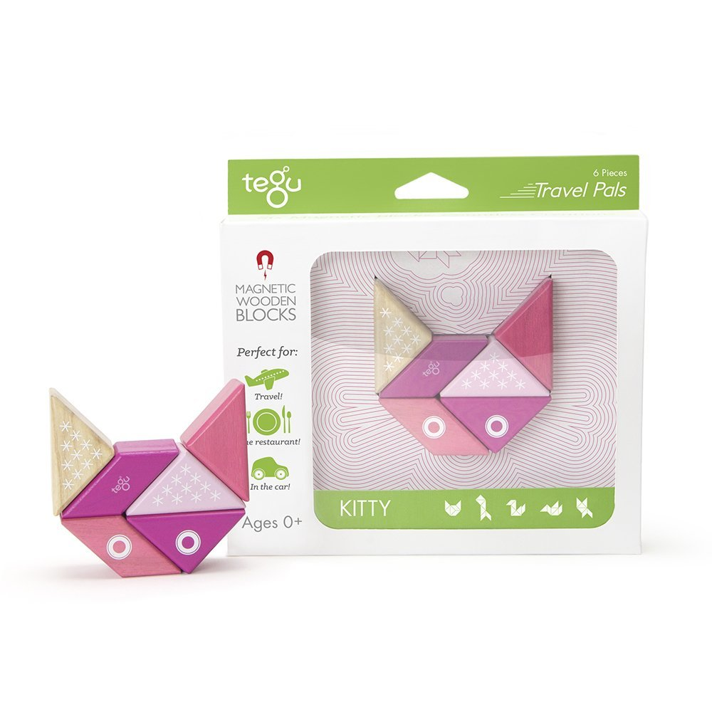 Tegu Travel Pal Kitty (6 Piece) - WoodenToys.com
