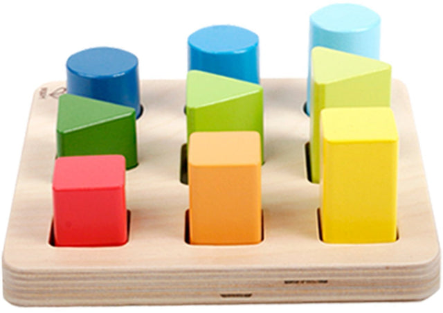 Hape Color and Shape Wooden Block Sorter - WoodenToys.com