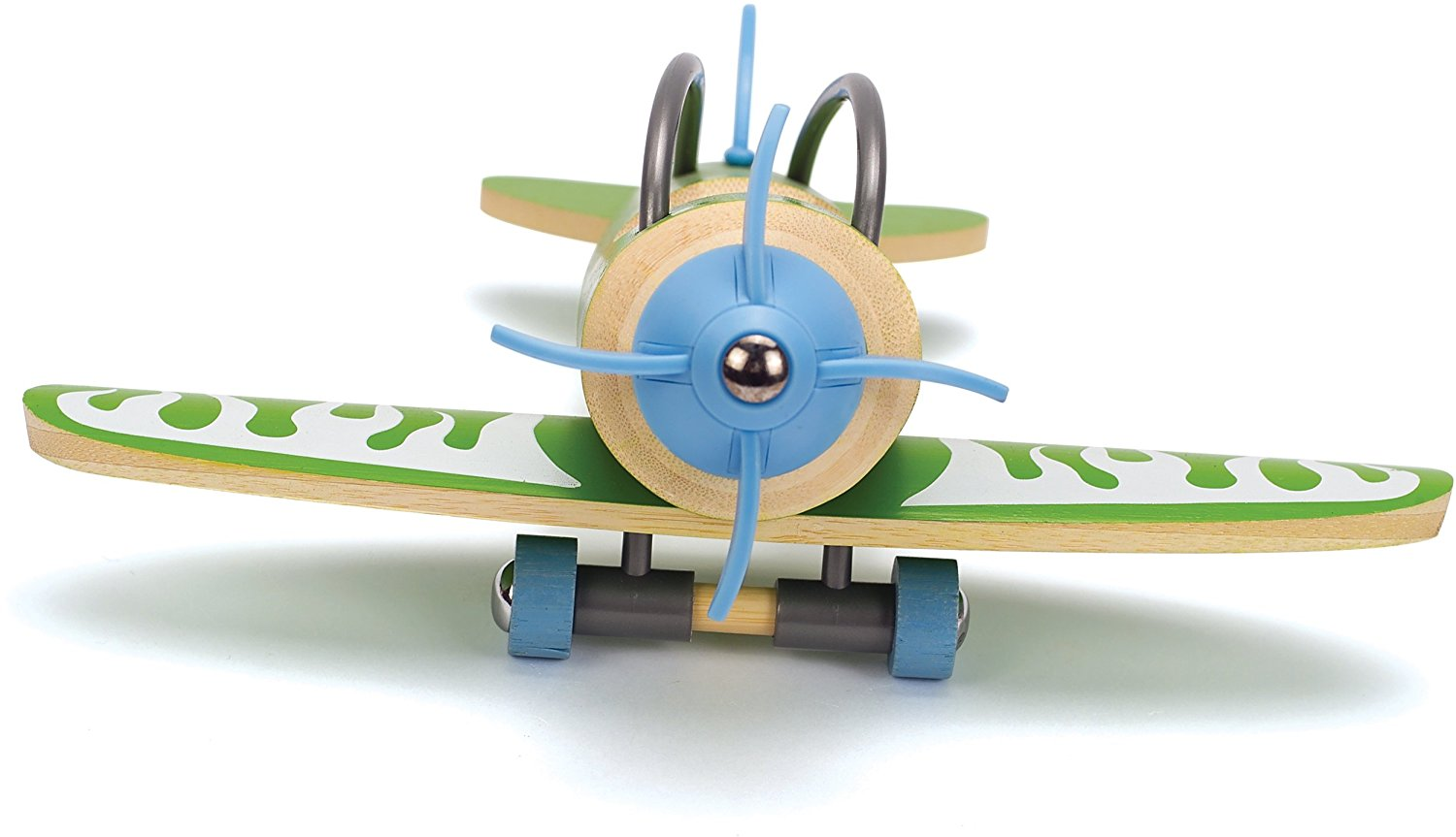Hape e-Plane Bamboo Toddler Wooden Toy Airplane - WoodenToys.com