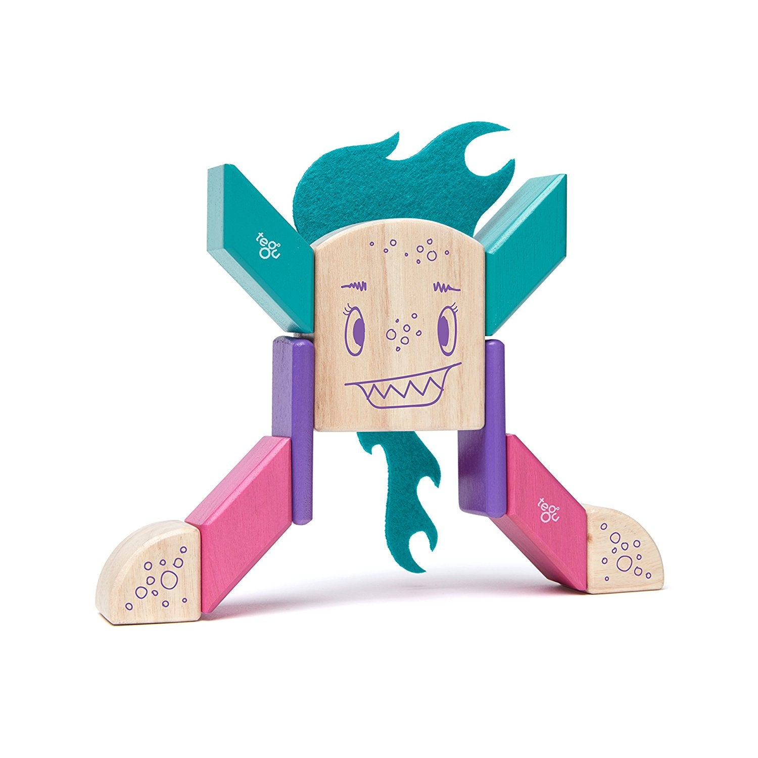 Tegu FINKLEBEAR Magnetic Wooden Block Set - WoodenToys.com