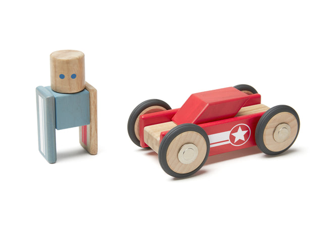 Tegu Daredevil Magnetic Wooden Block Set - WoodenToys.com