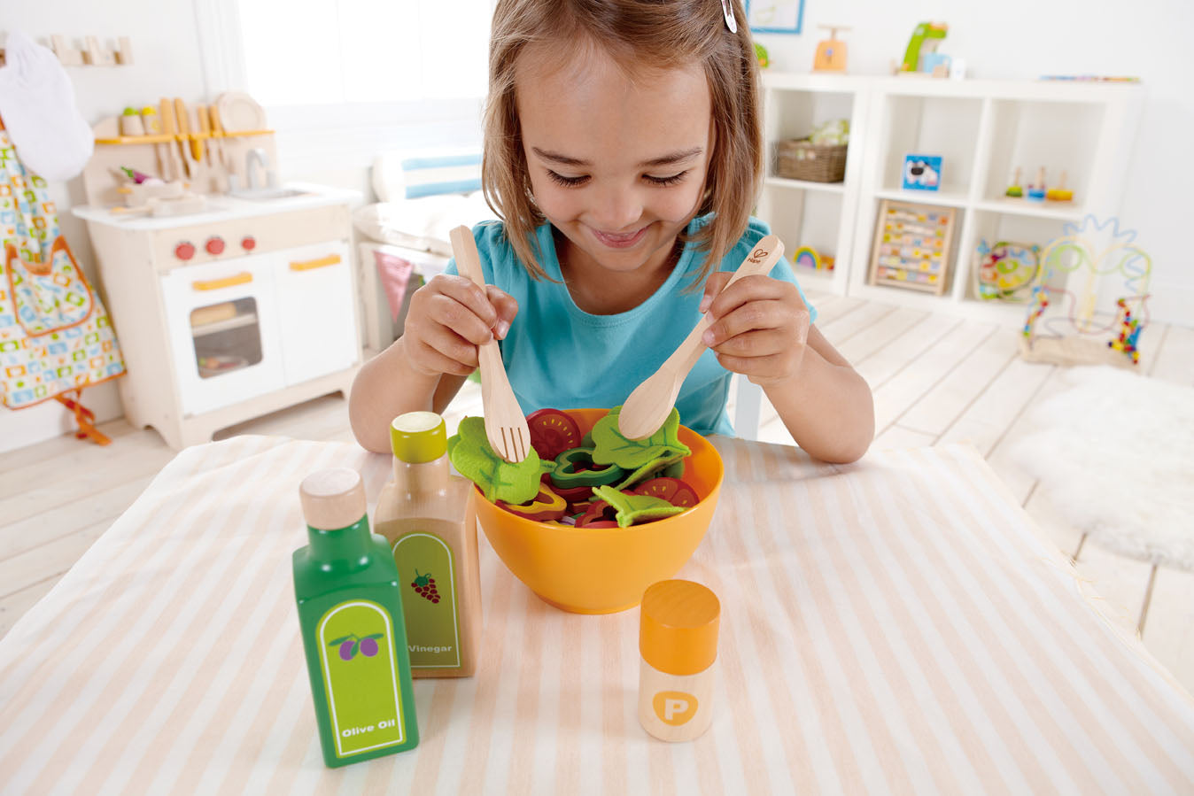 Hape Garden Salad Wood Play Kitchen Play Set - WoodenToys.com