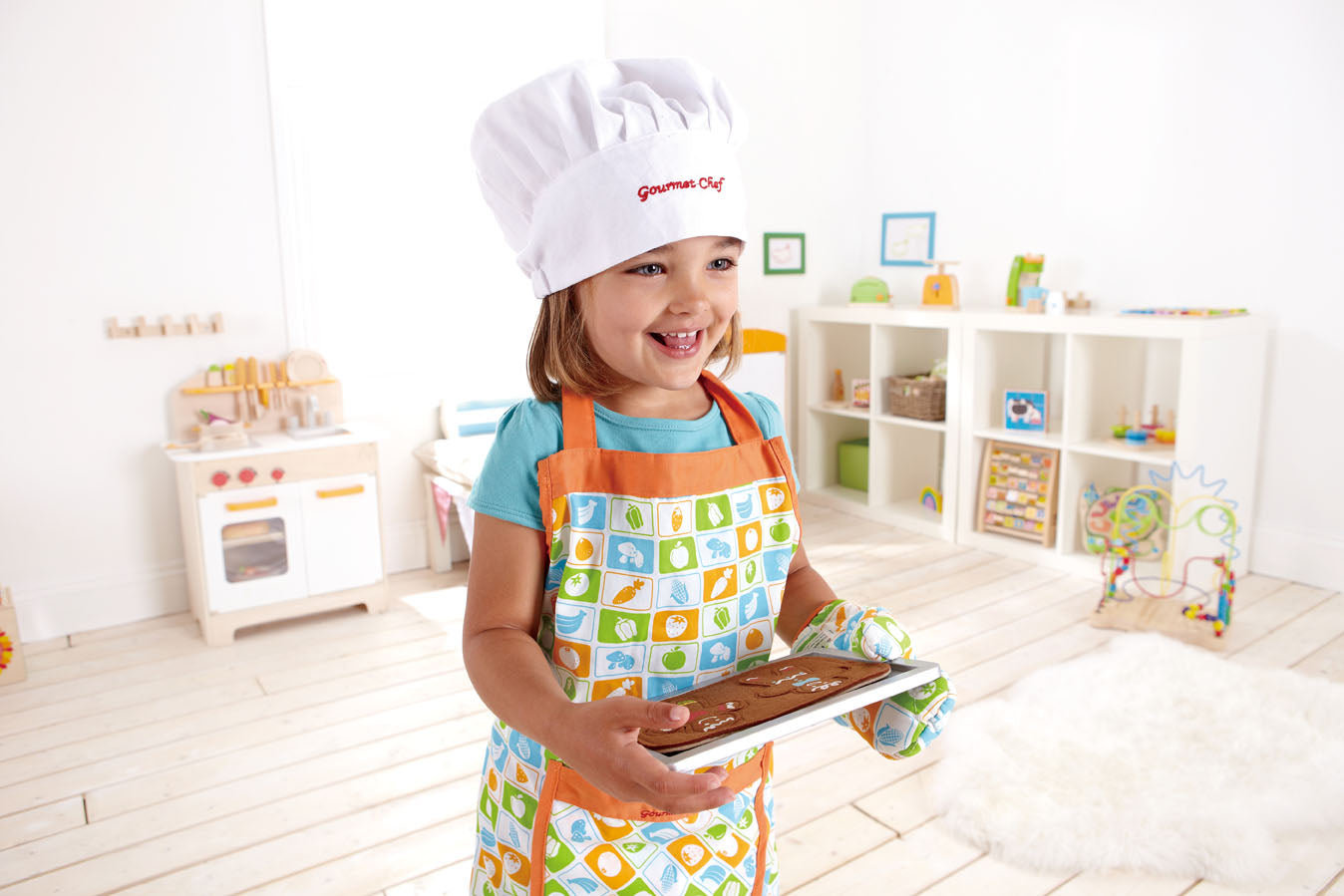 Hape Kid's Chef Apron Set - WoodenToys.com