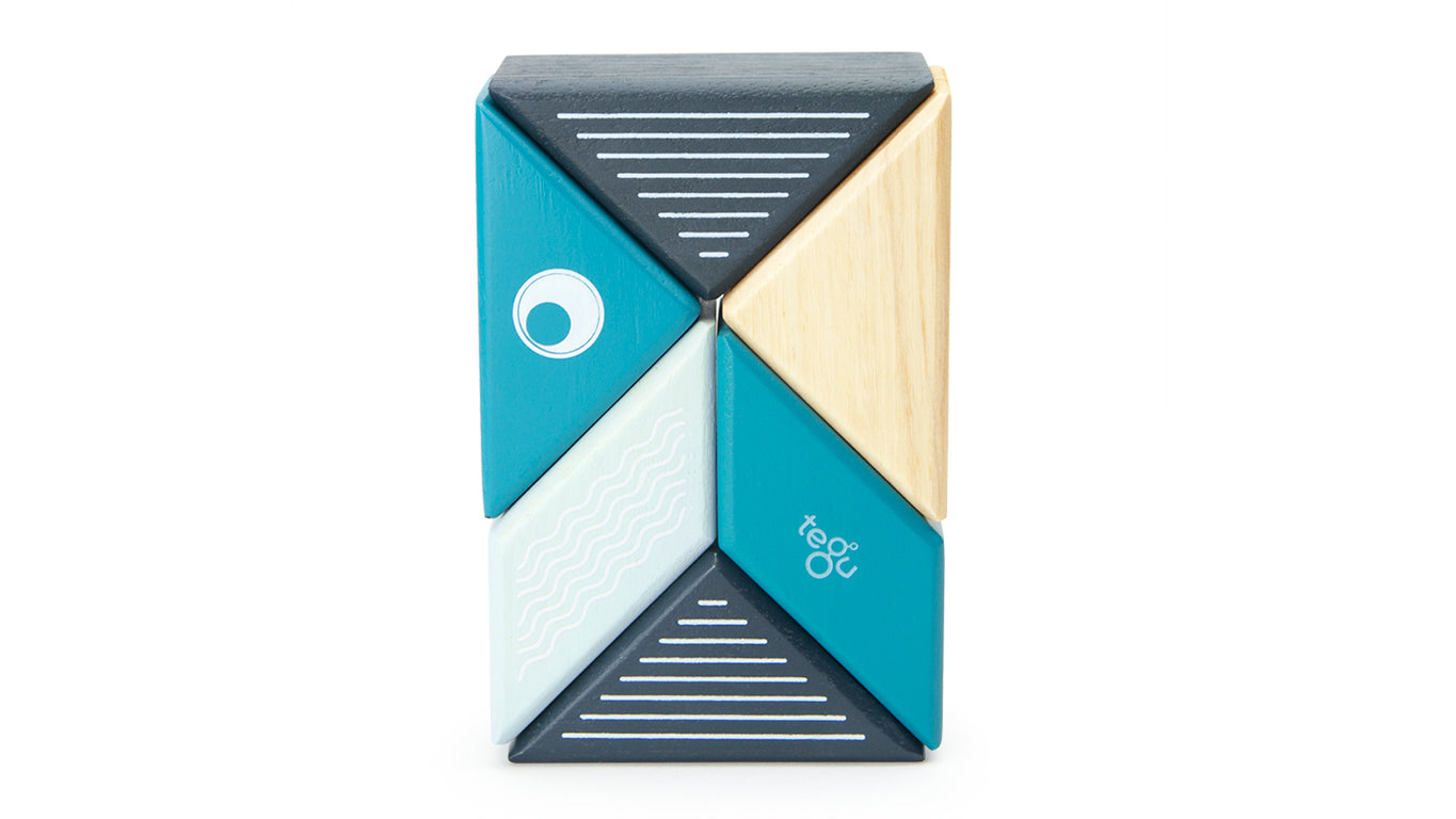Tegu Travel Pal Whale (6 Piece) - WoodenToys.com