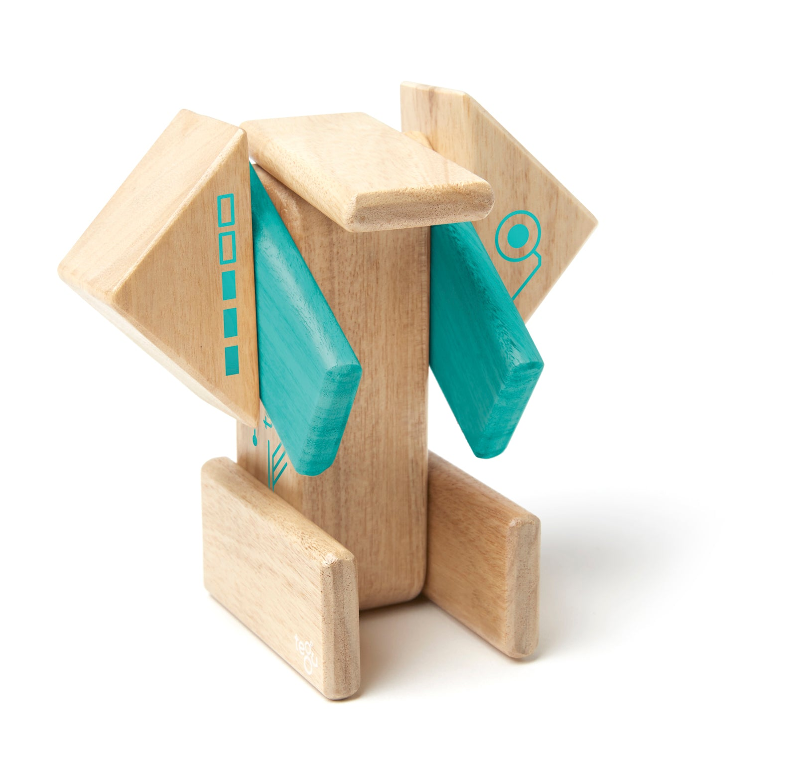 Tegu Robo Magnetic Wooden Block Set - WoodenToys.com