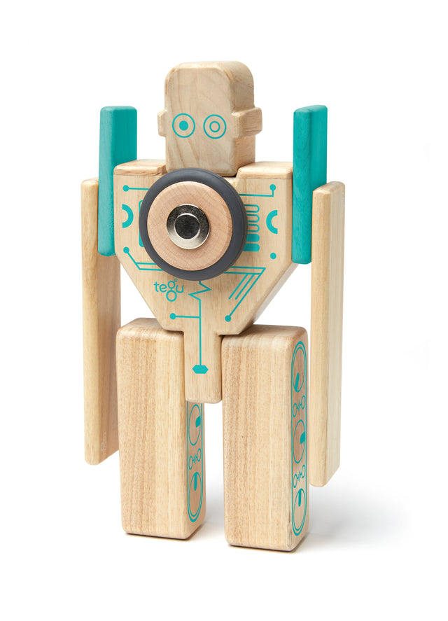 Tegu Magbot Magnetic Wooden Block Set - WoodenToys.com