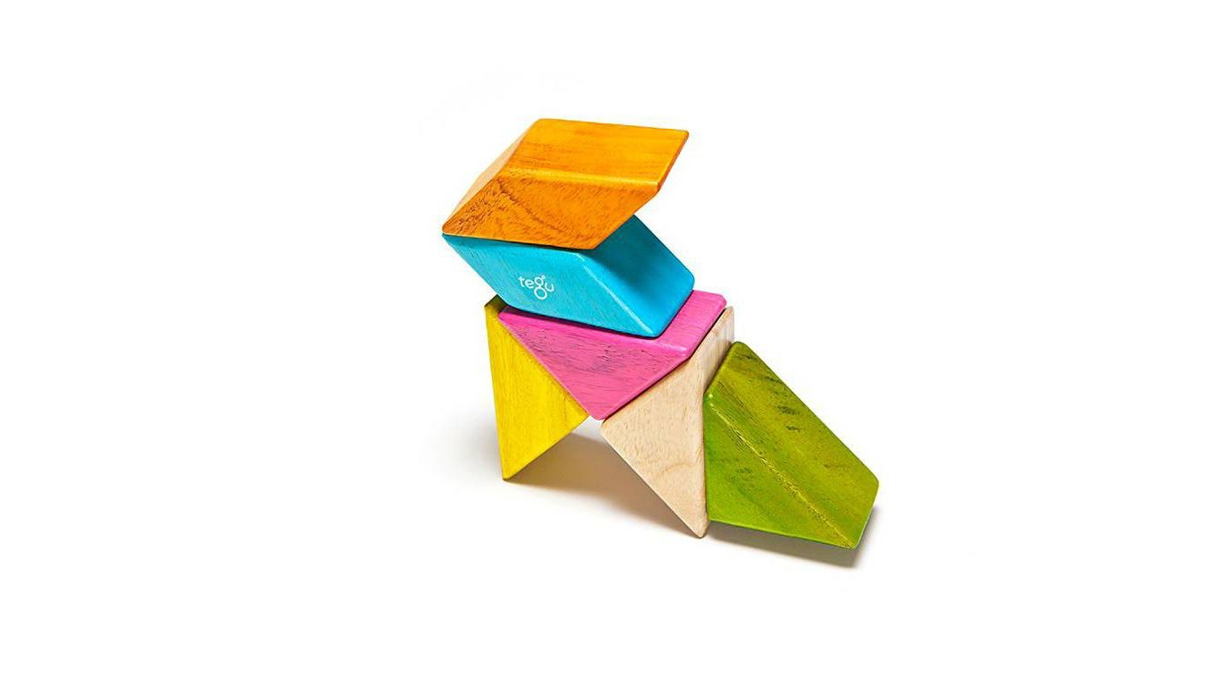Tegu Prism Pocket Pouch 6 Piece, Tints - WoodenToys.com