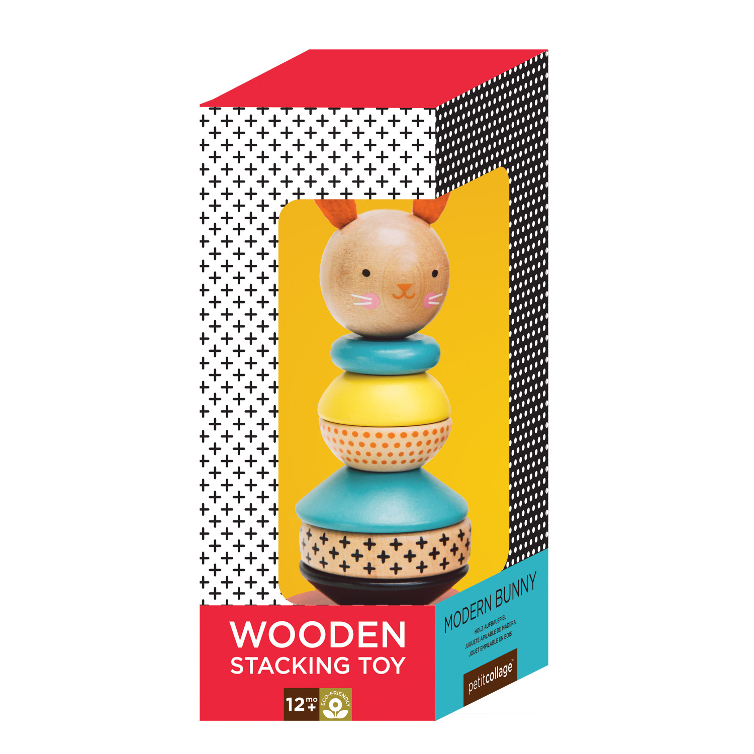 Petit Collage Rabbit Wood Stacking Toy - WoodenToys.com