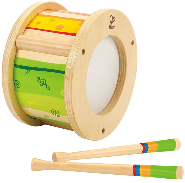 Hape Little Drummer Kid's Wooden Drum Music Set - WoodenToys.com