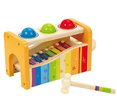 Hape Pound & Tap Bench with Slide Out Xylophone - WoodenToys.com