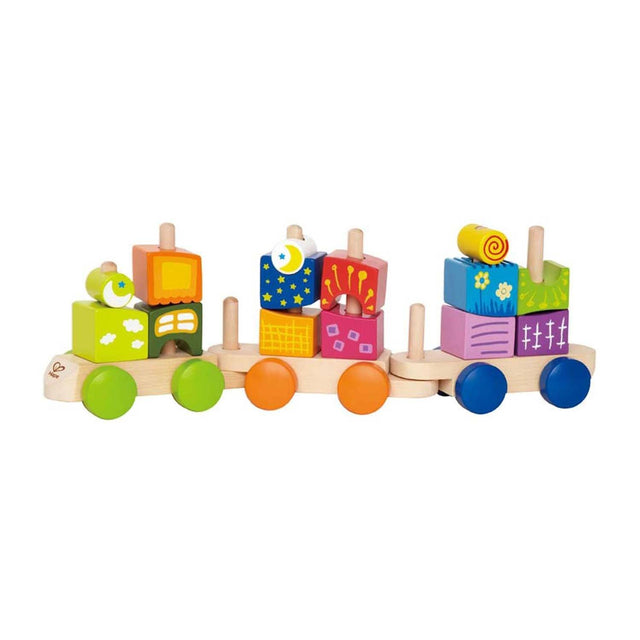 Hape Fantasia Building Blocks Toddler Push and Pull Train Set - WoodenToys.com