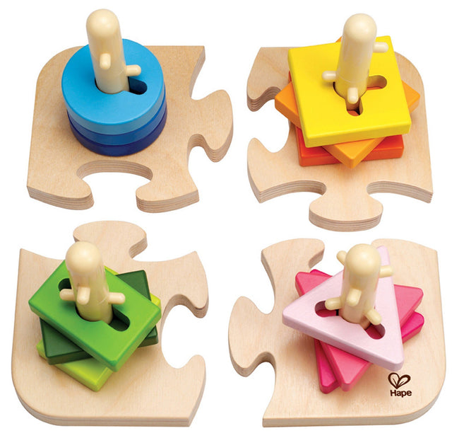 Hape Creative Toddler Wooden Peg Puzzle - WoodenToys.com